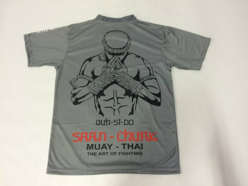 T-shirt Saan-Chuak grijs