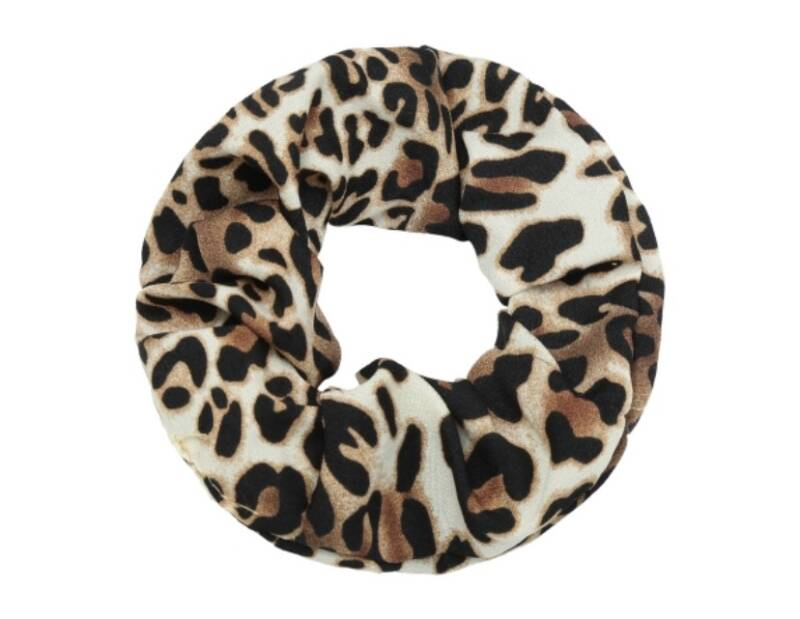 Scrunchie leopard brown