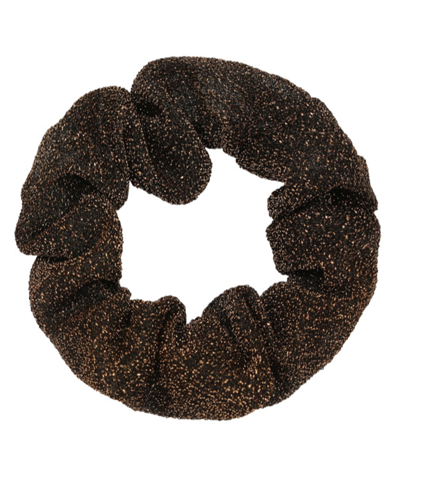 Scrunchie glitter Brown
