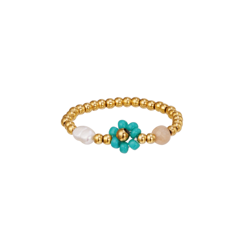 Ring Flower Turquoise