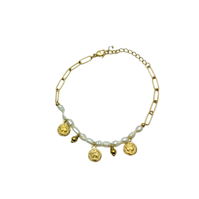 Armband Coins and Pearls