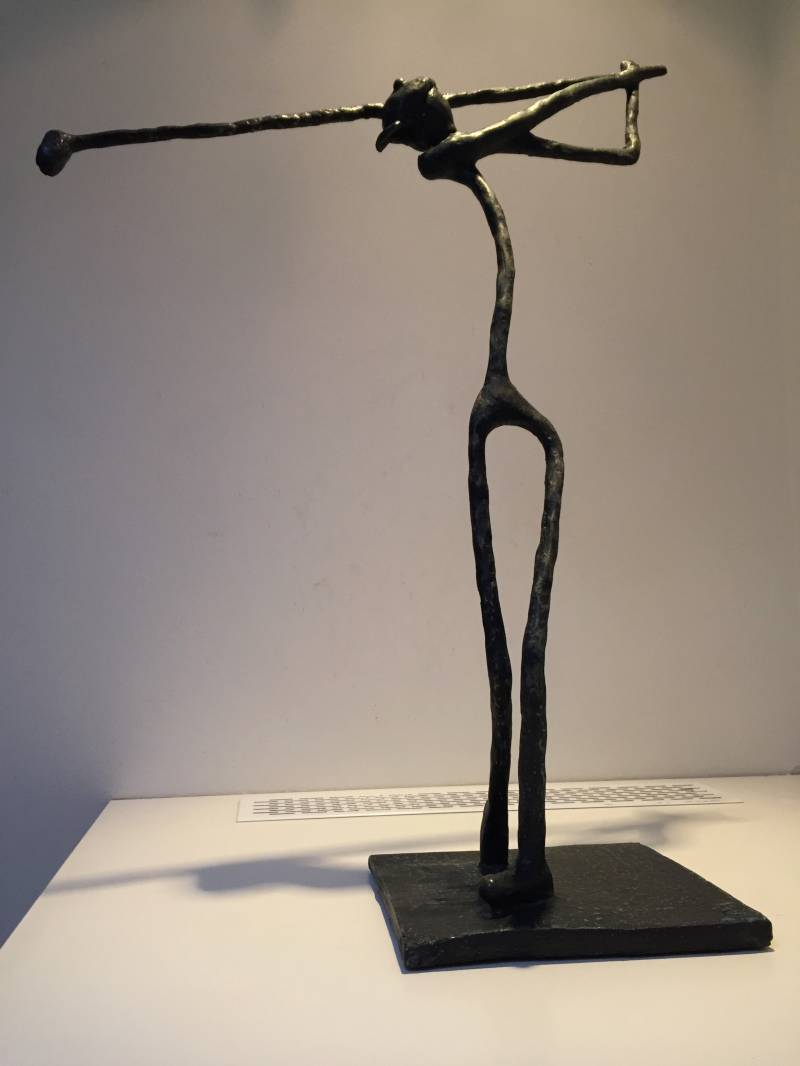 Inspired by.......DilArt meets Giacometti 'Golfer'  'bronze'