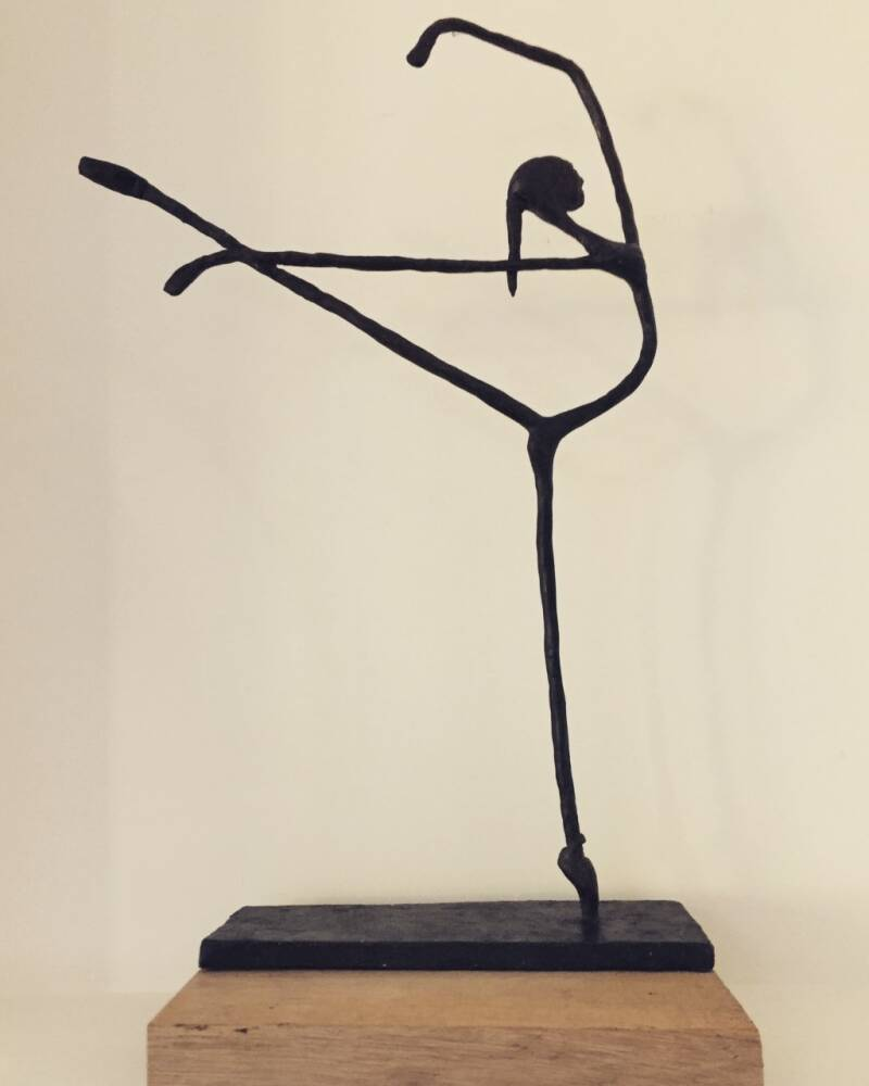 Inspired by........ DilArt meets Giacometti (brons)