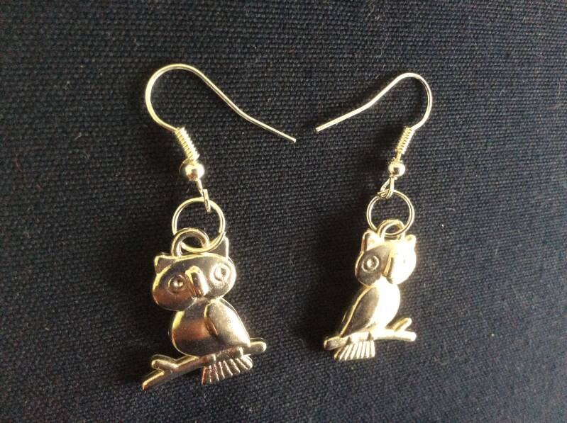 "Oorhangers ""uiltje"" earrings owl"