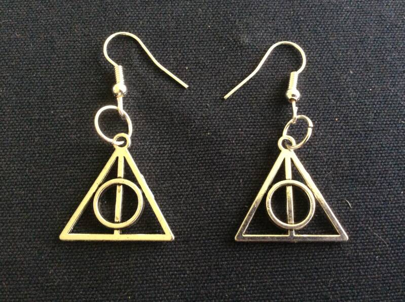 Harry Potter Deathly Hallows oorhangers earrings