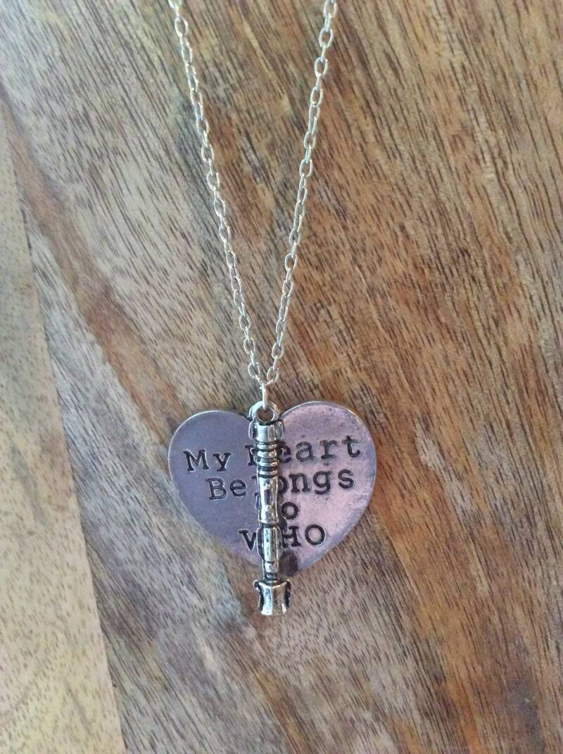 Doctor Who ketting  My Heart belongs to Who necklace