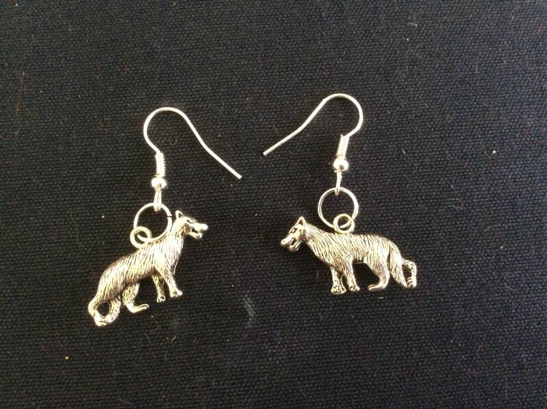 "Oorhangers ""hond"" earrings dog"