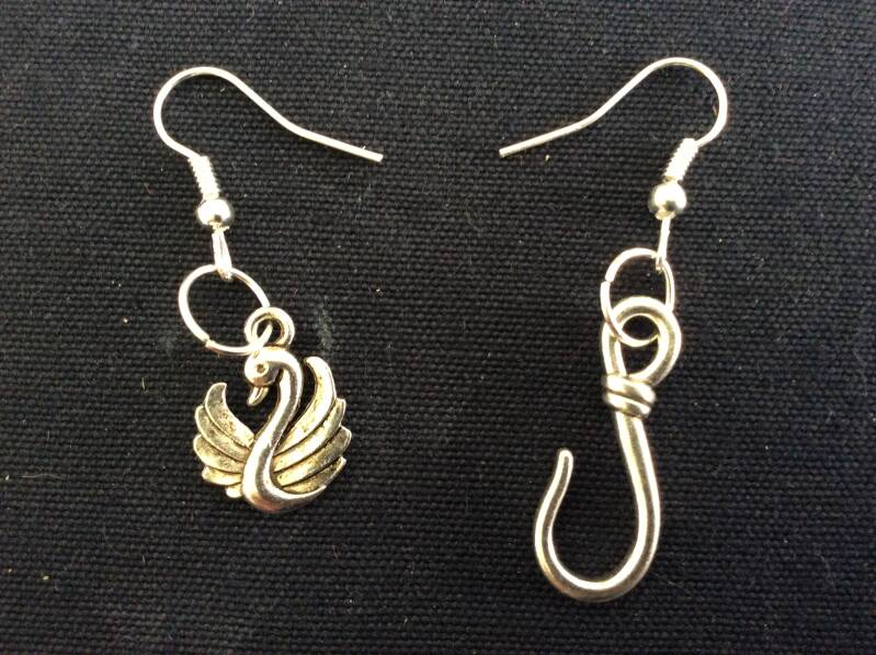Once upon a Time CaptainSwan oorhangers earrings