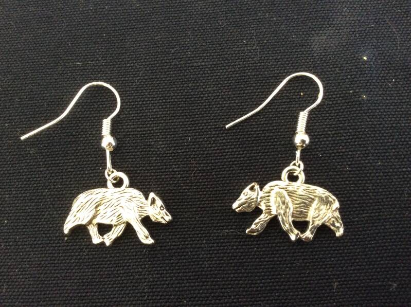 "Oorhangers ""Das"" earrings badger"