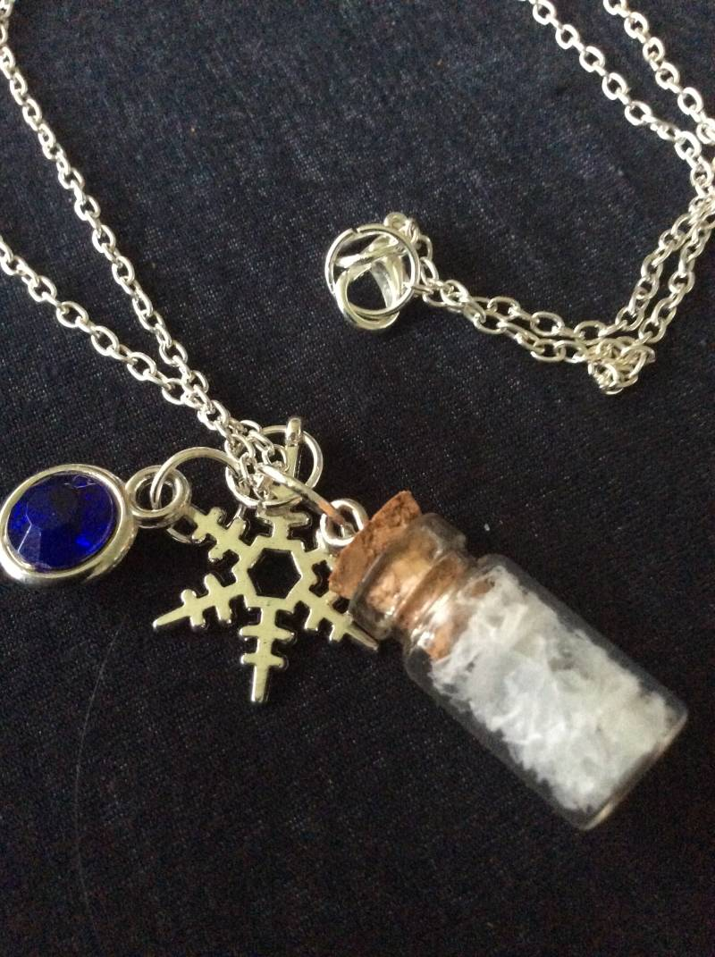 "Frozen "" Elsa's Snowflakes""  flesketting bottle necklace"