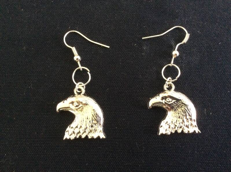 "Oorhangers ""adelaar"" earrings eagle"