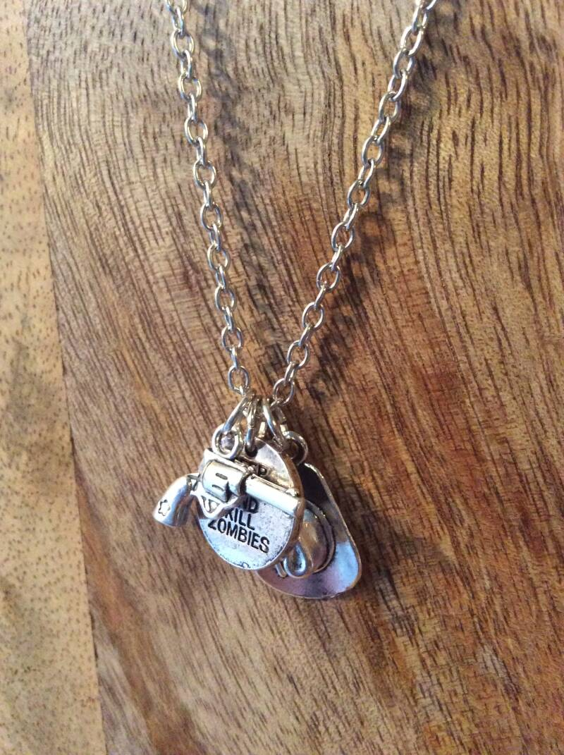 "The Walking Dead ketting ""Keep Calm and Kill Zombies necklace"