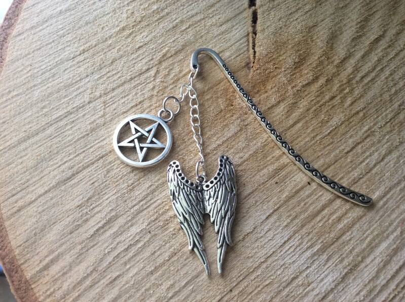 Supernatural boekenlegger 'Castiel bookmark