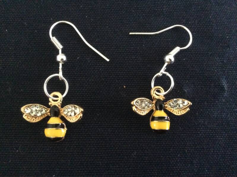 "Oorhangers ""bijtje"" earrings bee"