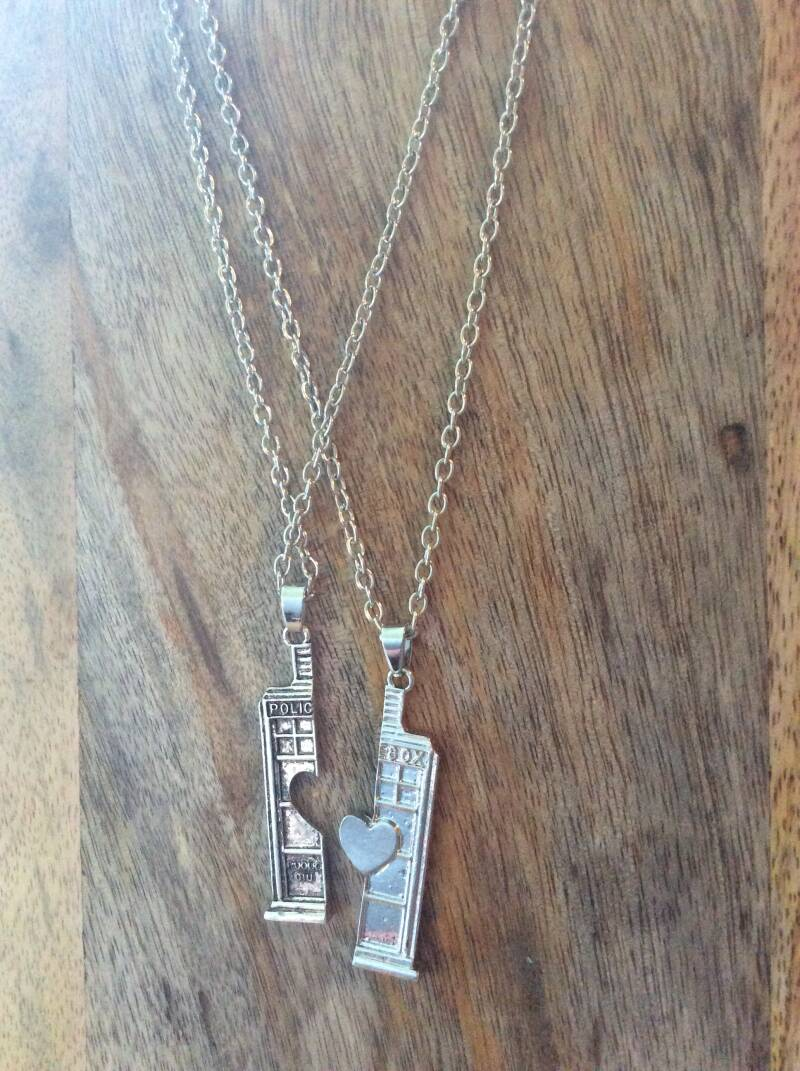 Doctor Who, policebox, duoset ketting necklace