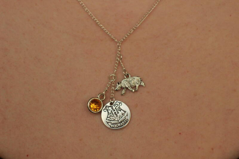 Harry Potter, Hogwarts Hufflepuff ketting necklace