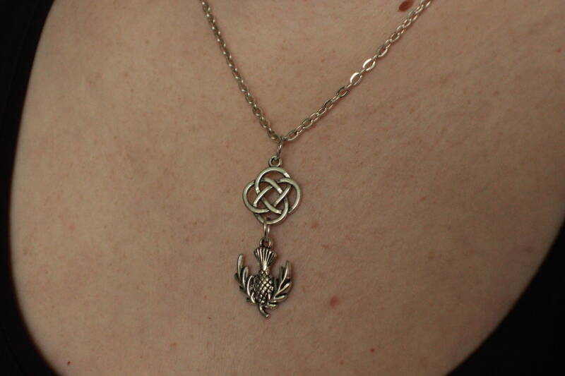 Outlander ketting Celtic Thistle necklace