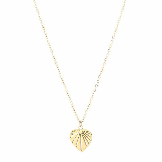 ketting heart gold