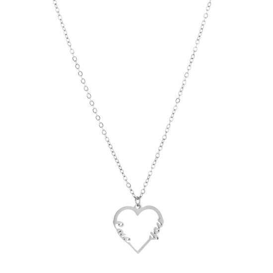 ketting love you silver