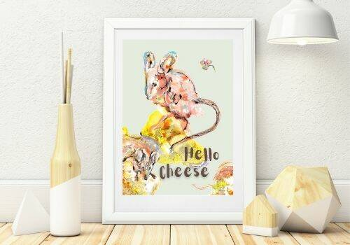 A4 poster Hello Cheese