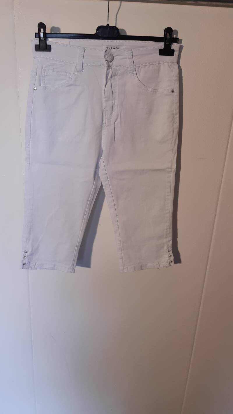 11-4 drie kwart jeans wit