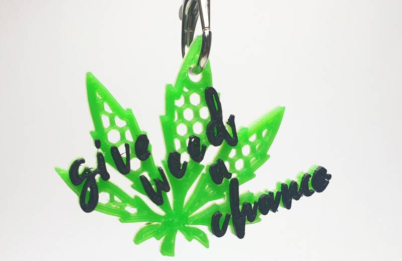Give weed a chance hanger.