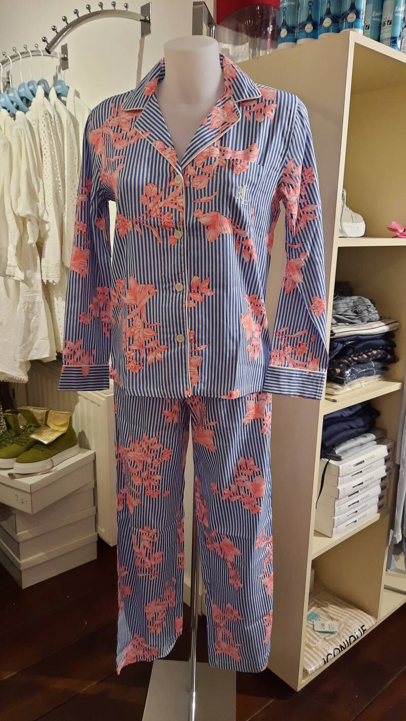 Ralph Lauren Sateen notch pyjama