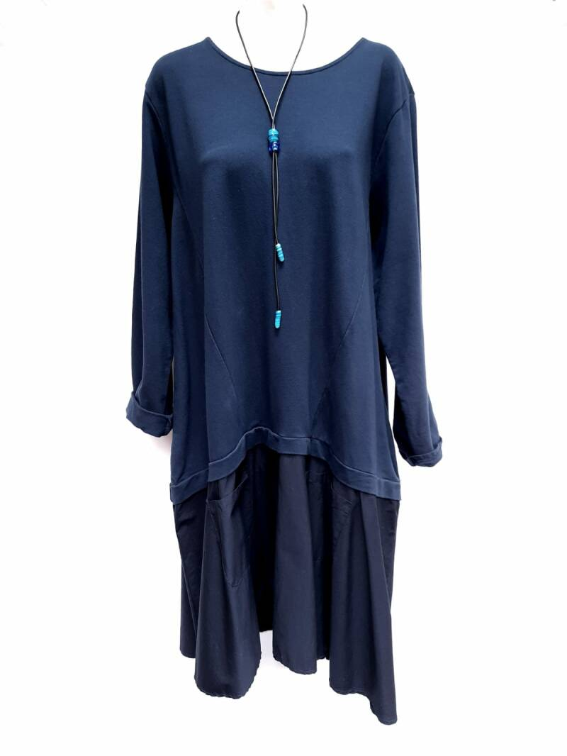 Dress donkerblauw apart