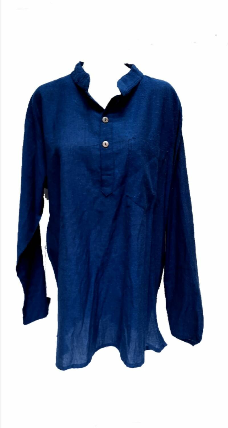 Blouse blue man and Woman