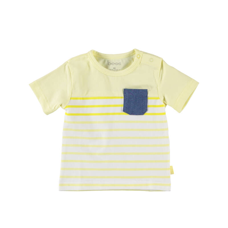 21060-010 Shirt ss Striped with Pocket - BESS