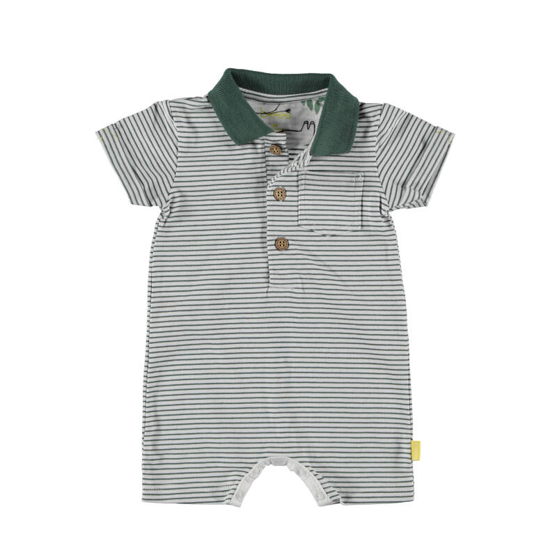 21074-001 Playsuit stripe Polo - BESS