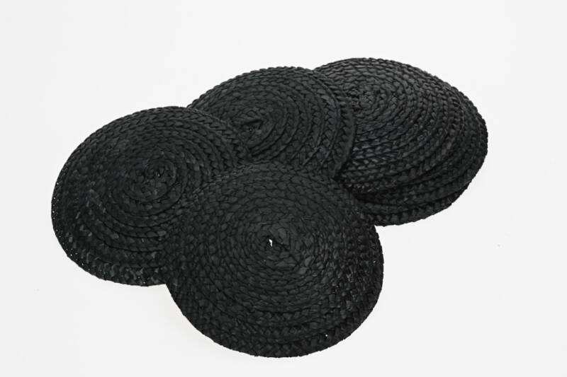 Straw base - Black - per piece