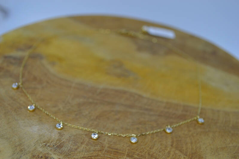 Ketting Witte Steentjes - By Jam Gioielli
