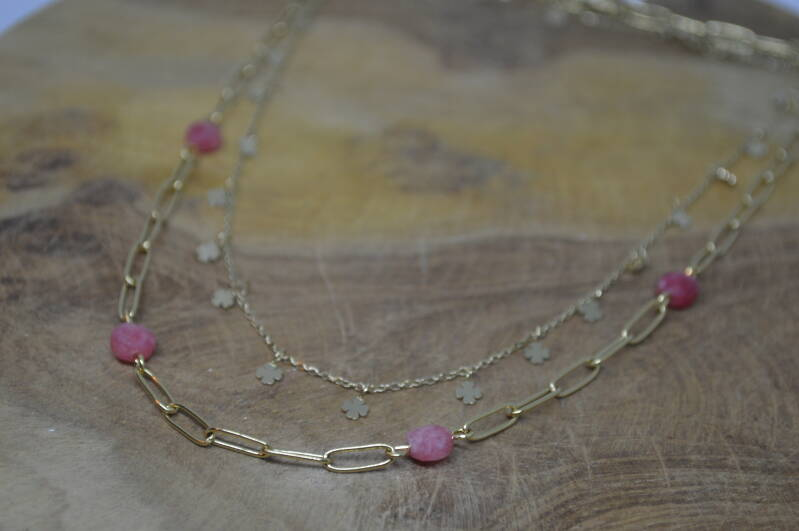 Ketting Pink Clover - By Jam Gioielli
