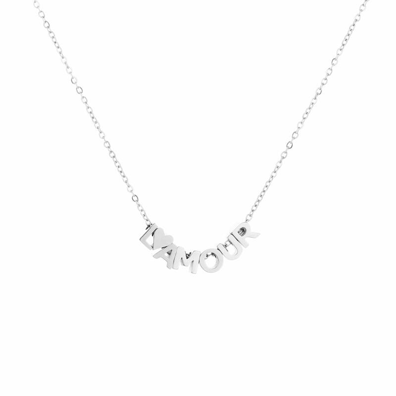 Lamour ketting - zilver