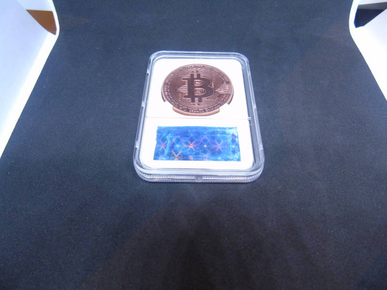 Bitcoin brons plated verzamelmunt