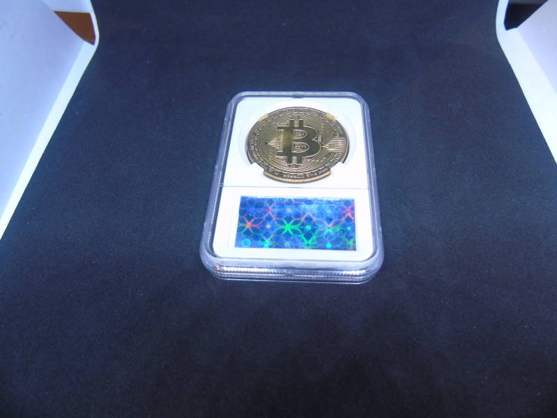 Bitcoin gold plated verzamelmunt