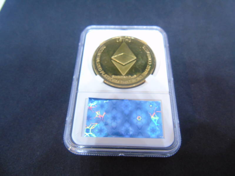 Ethereum gold plated verzamelmunt