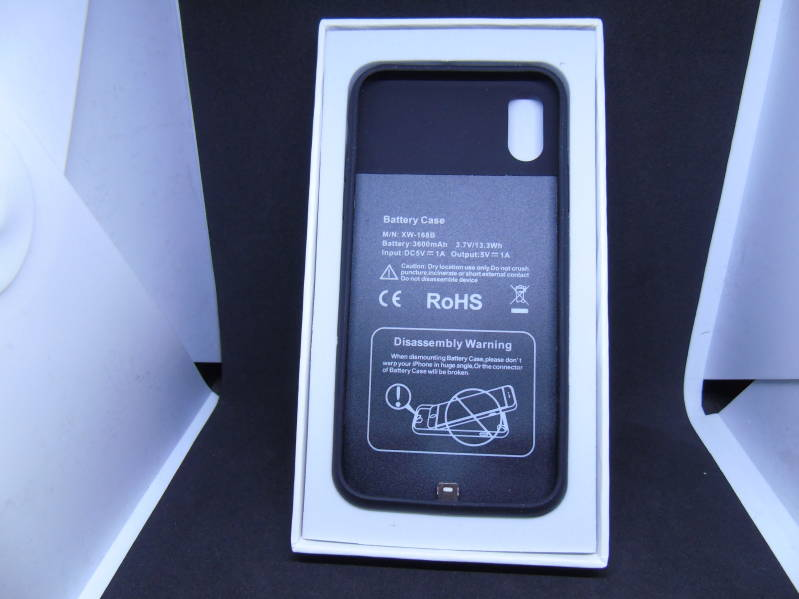 Q1 wireless battery case voor iphone X