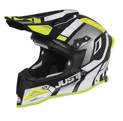 JUST1 Helmet J12 PRO Vector White-Yellow Fluor-Carbon 54-XS