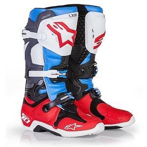 ALPINESTARS Boots TECH 10 RED/AQUA/ANTHRACITE/WHITE Bomber Limited Edition