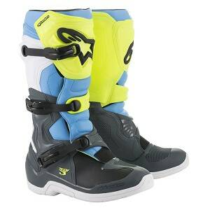 ALPINESTARS Boots TECH 3 Cool Gray / Yellow Fluo / Cyan