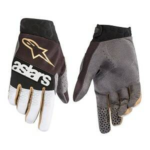 ALPINESTARS RACEFEND Gloves BLACK / SILVER / GOLD