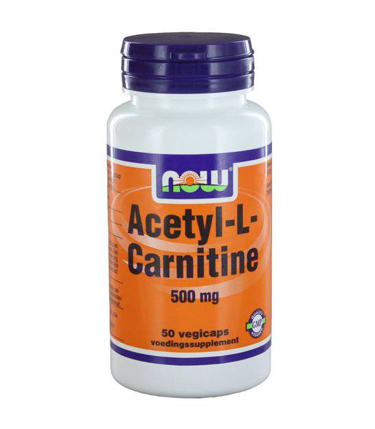 NOW  Vitamins - Acetyl-L-Carnitine 500 mg