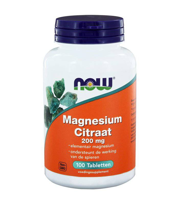 NOW  Vitamins - Magnesium citraat 200 mg