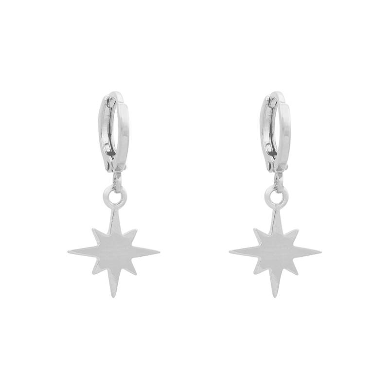 EARRINGS NORTHERN STAR - SILVER