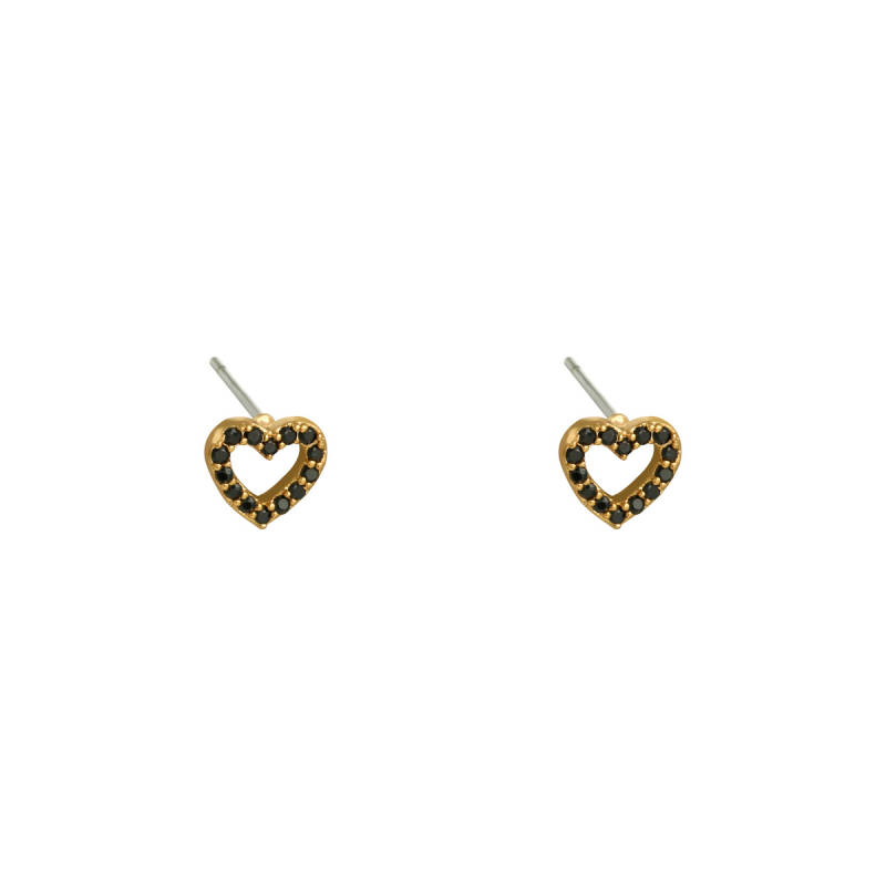 EARRINGS MINI HEART - GOLD