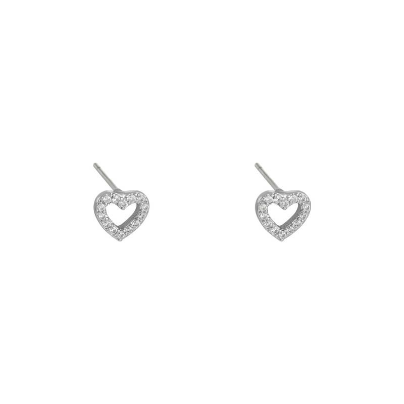EARRINGS MINI HEART - SILVER
