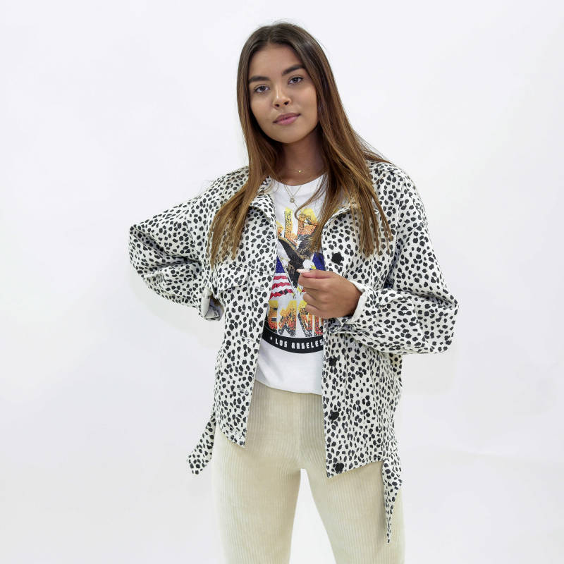 CHEETAH JACKET - OFF-WHITE
