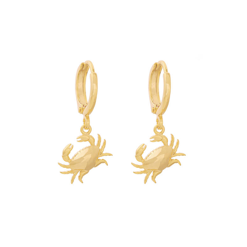 EARRINGS CRAB - GOLD